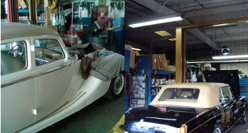 cars being repaired at Howard Ave Radiator